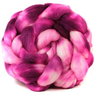 Fuchsia Blossom superwash merino top