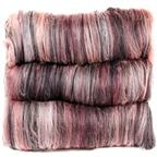 Black & rose Merino Polwarth batts