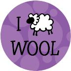 I Love Wool drawstring bag - purple