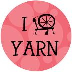 I Spin Yarn drawstring bag - pink