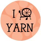 I Spin Yarn drawstring bag - peach