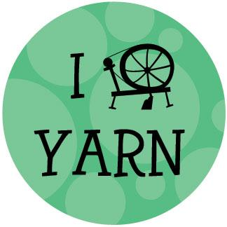 I Spin Yarn drawstring bag - green