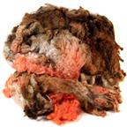 Brown & Orange Merino dyed fleece - 4 oz