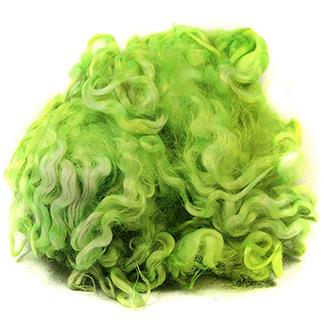 English Leicester fleece- bright lime