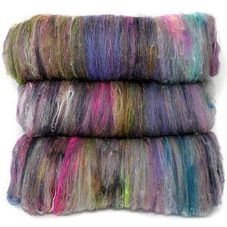 Multicolored scrappy batts