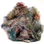 Pulled silk fibers 4 oz.